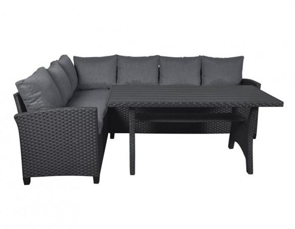 canada loungesæt i polyrattan